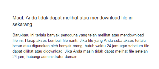 Trik Download Google Drive Kuota Terlampaui (Quota Exceeded)